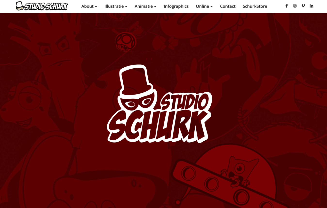 Studio Schurk portfolio website