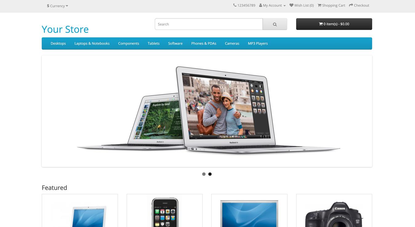 ví dụ trang thương mại điện tử opencart website builder
