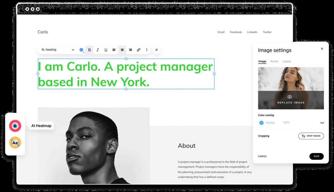 Zyro créateur de site