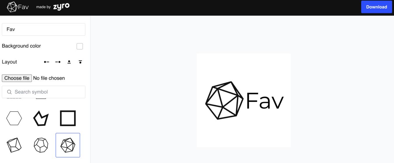 trình tạo favicon tốt nhất Zyro