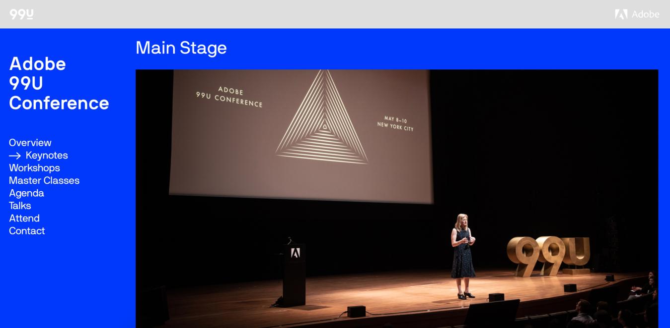 99u Conference Website Screenshot