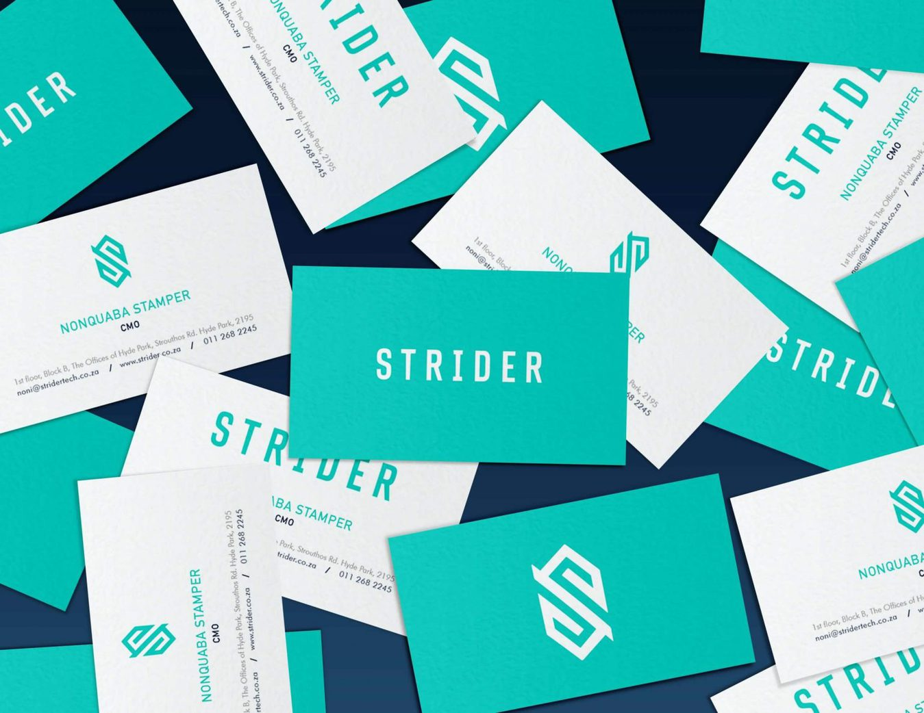 Aurora Strider business card