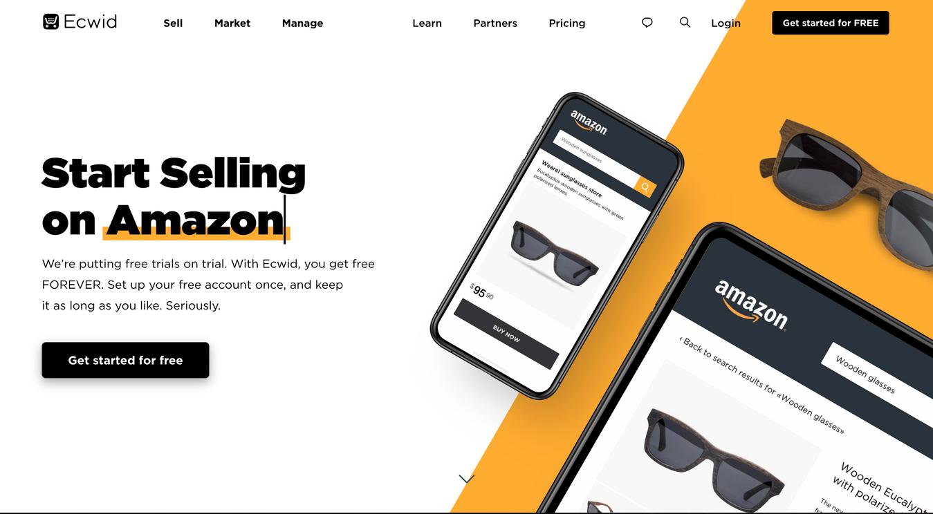 Ecwid e-commerce platform Startpagina Screenshot