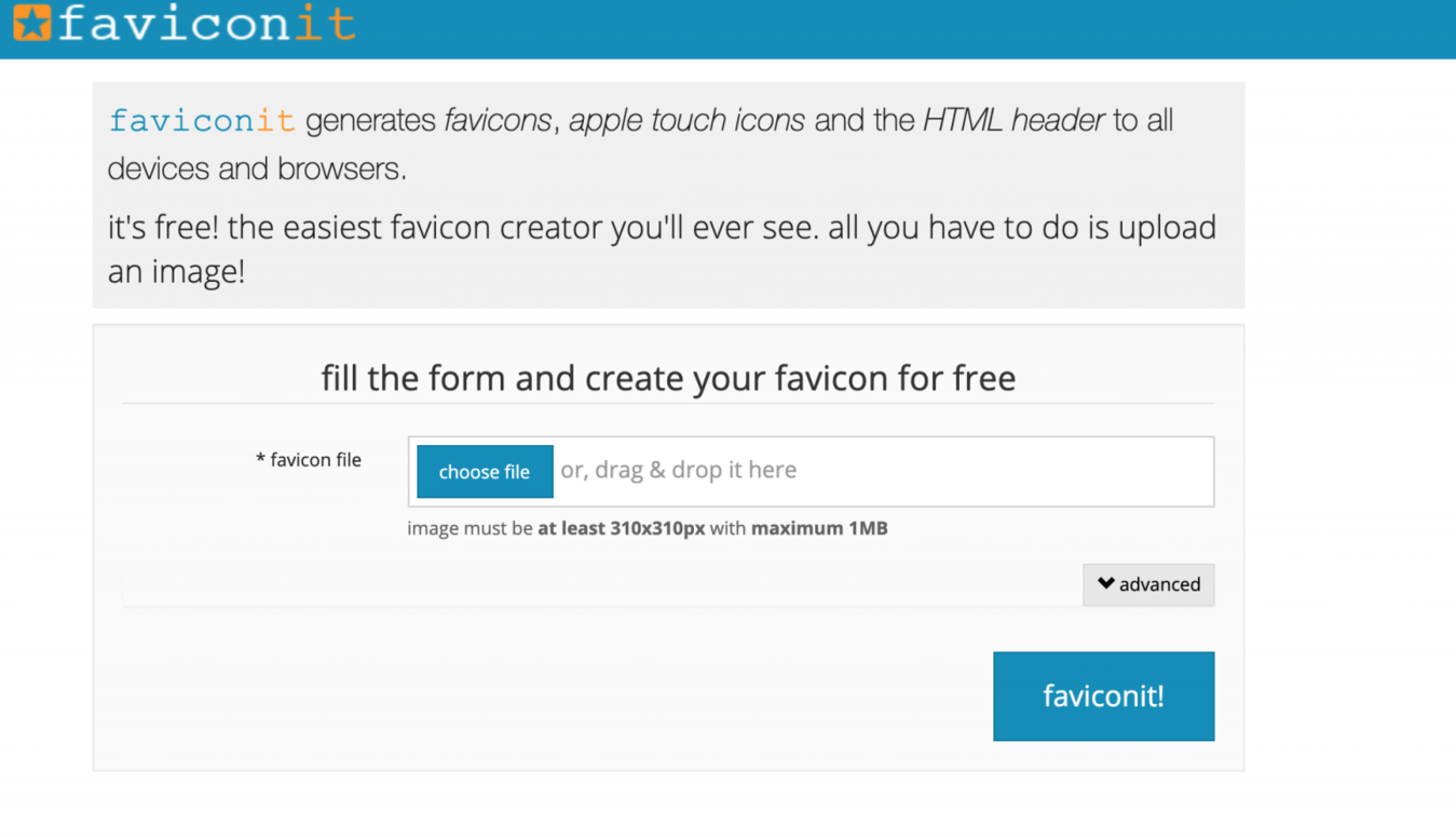 Trình tạo faviconit.com