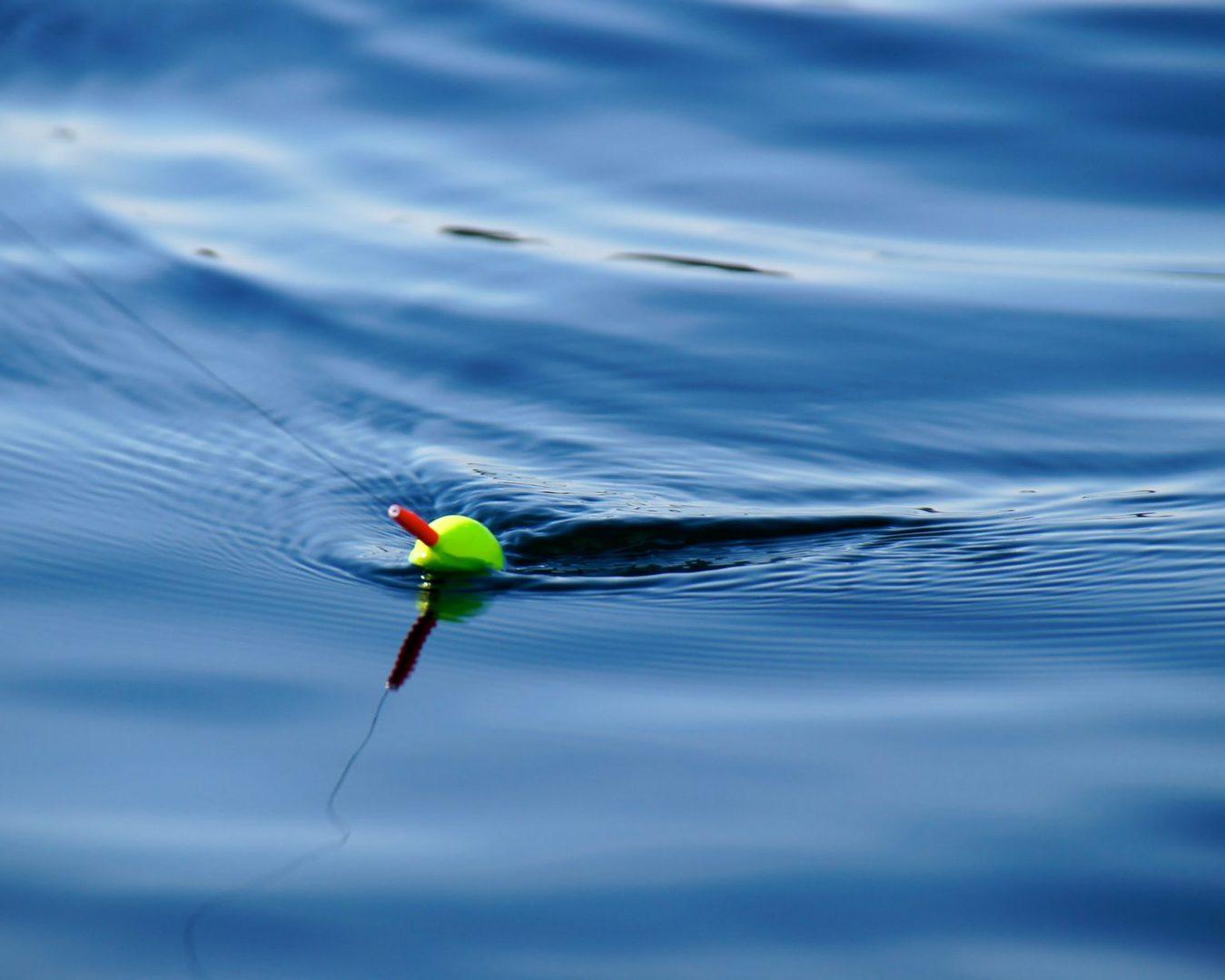 Fishing lure in water, closeup