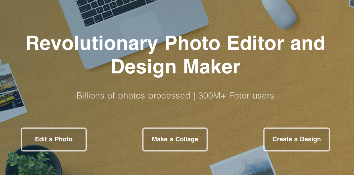Fotor fotobewerking software startpagina