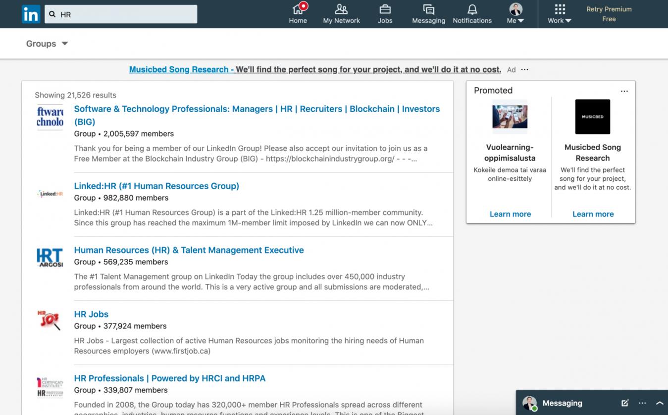 LinkedIn HR groups