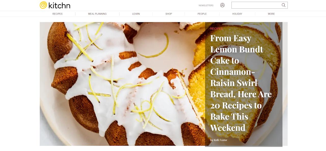 Kitchn - esempio di blog per cucinare