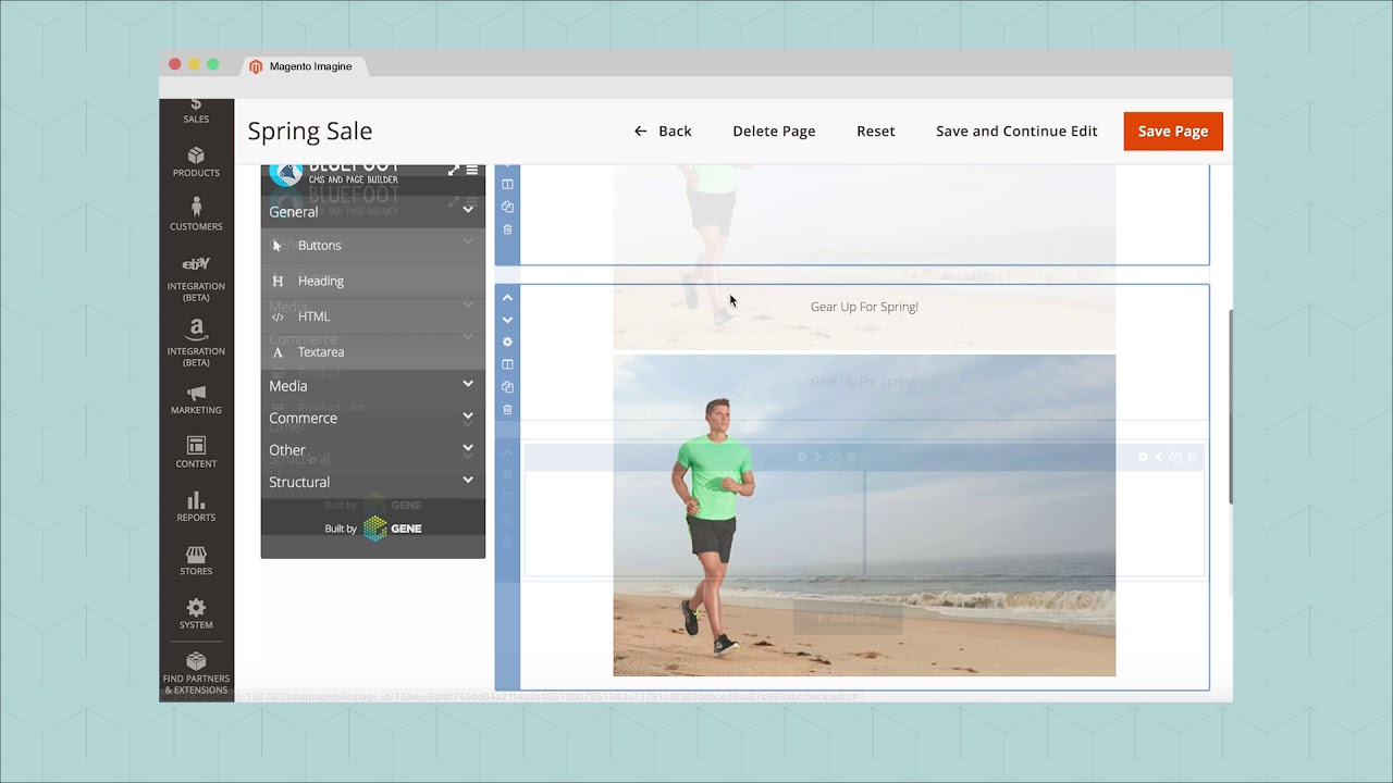Magento Website Bouwer Screenshot