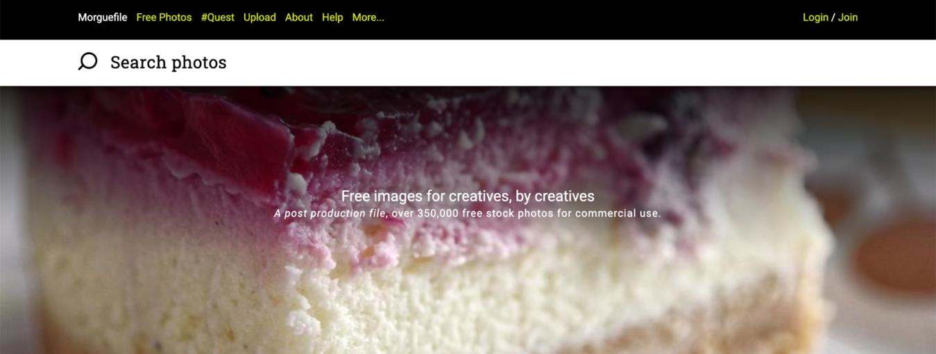 morguefile inlogpagina om gratis stockfoto's te vinden