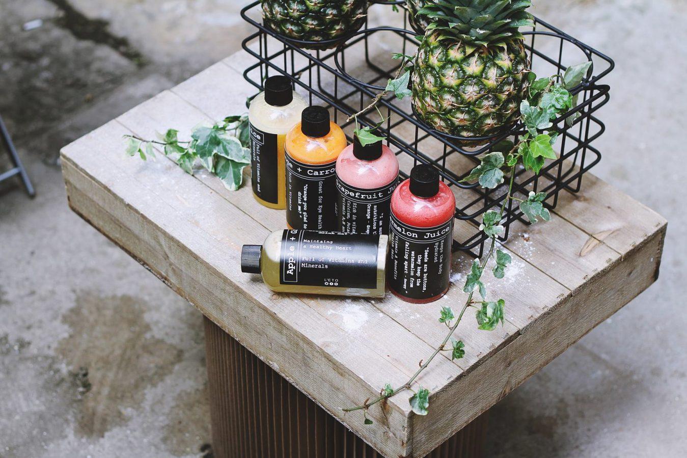 Product bundle colorful bottles