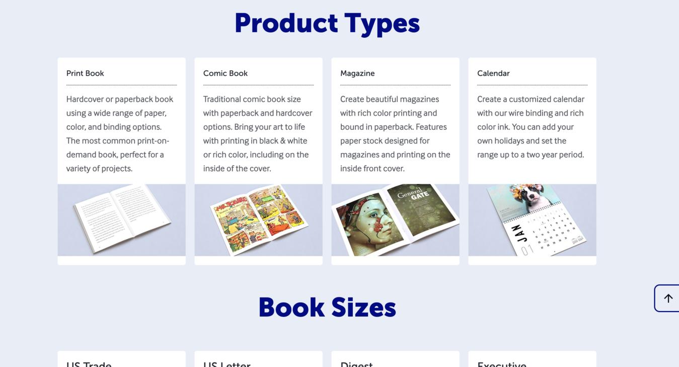 Página de produtos da LuluXpress