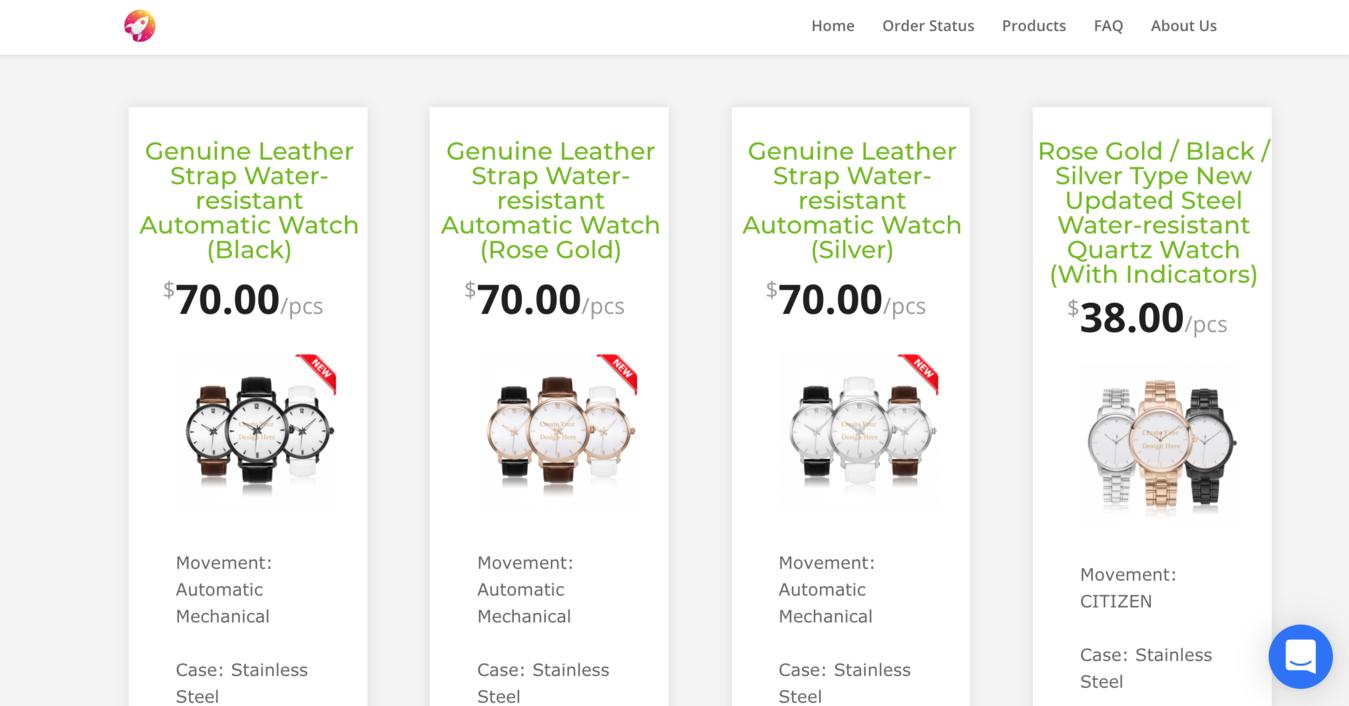 Página de produtos do JetPrint