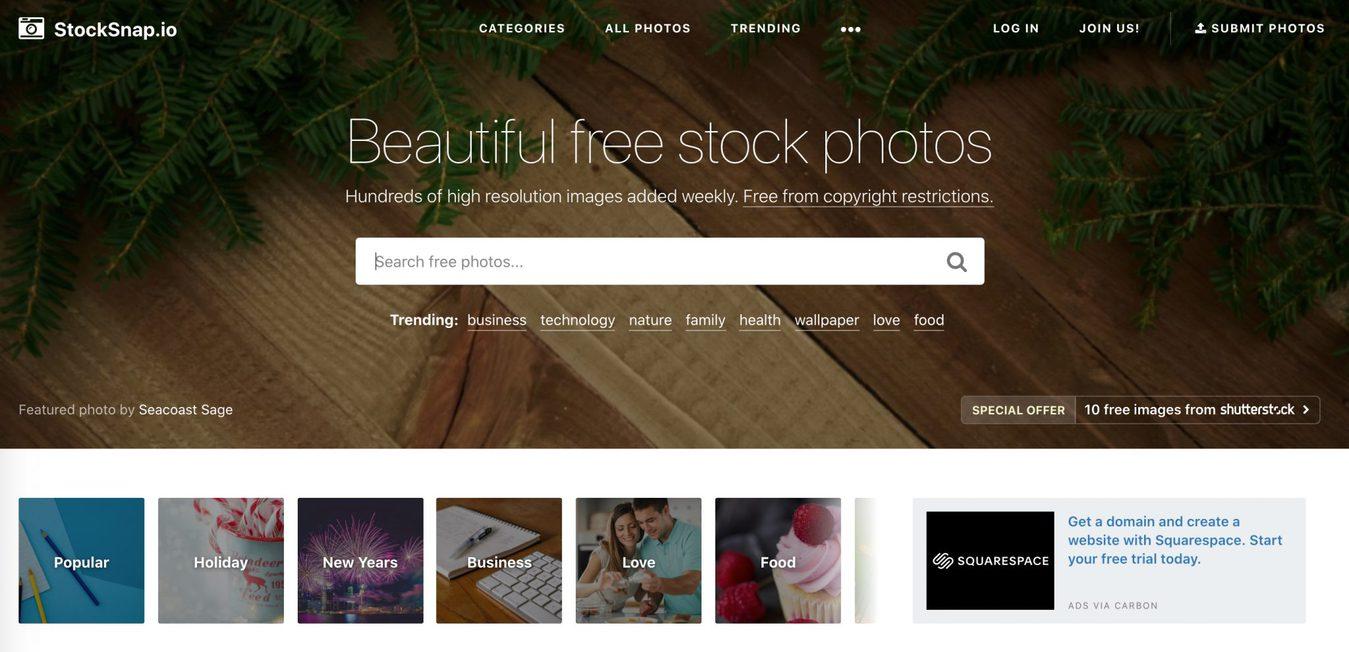 Situs gambar gratis Stocksnap