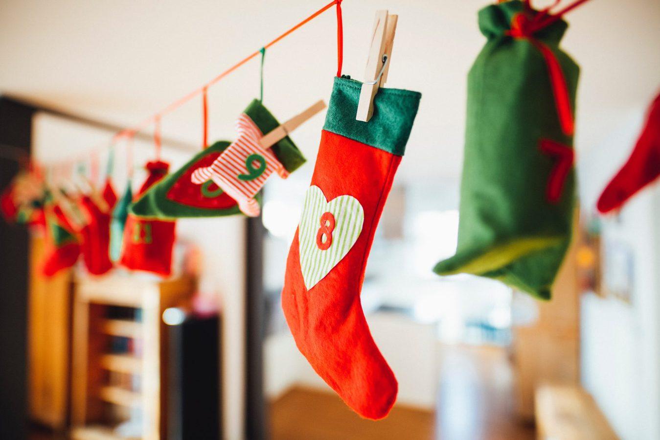 Christmas countdown stockings