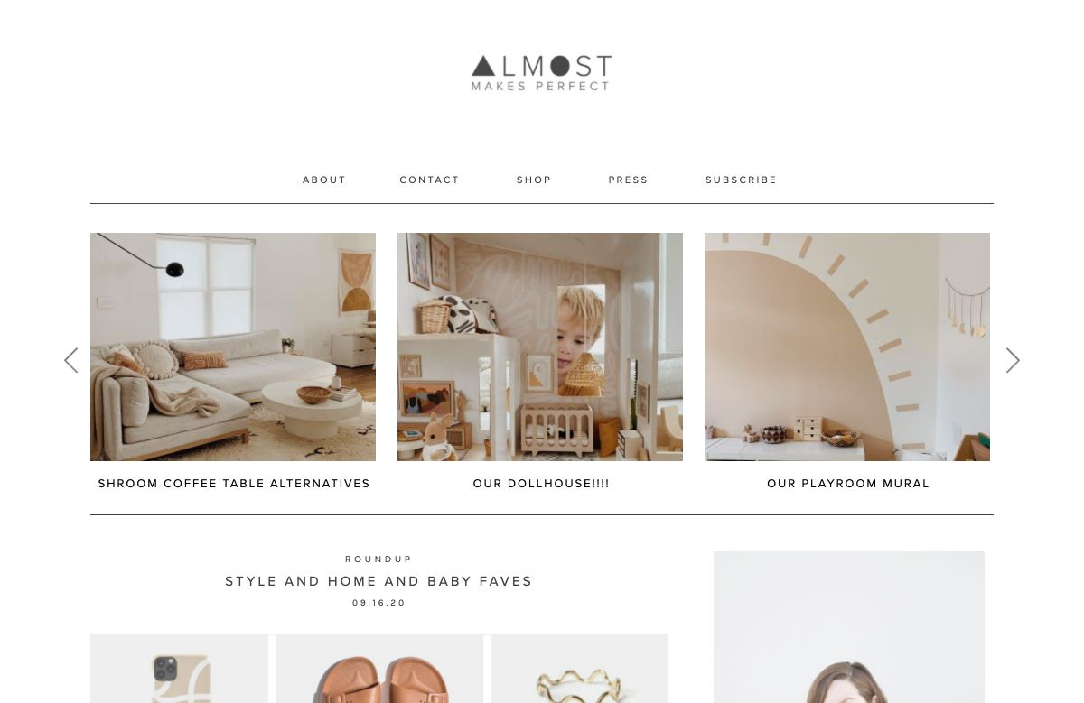 almost makes perfect blog startpagina