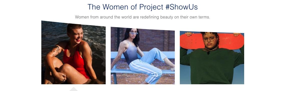 As mulheres do projeto da Dove