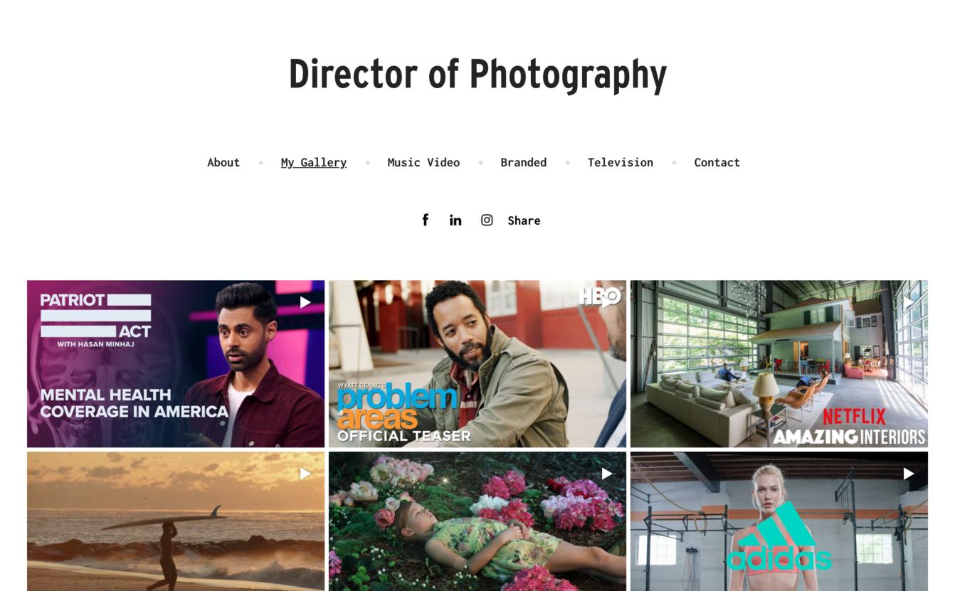 website portfolio mẫu Bryan Gentry