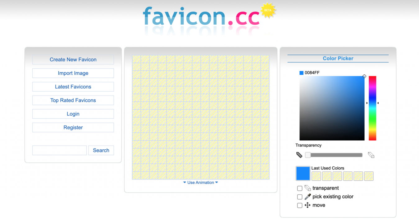 Cara menggunakan favicon.cc