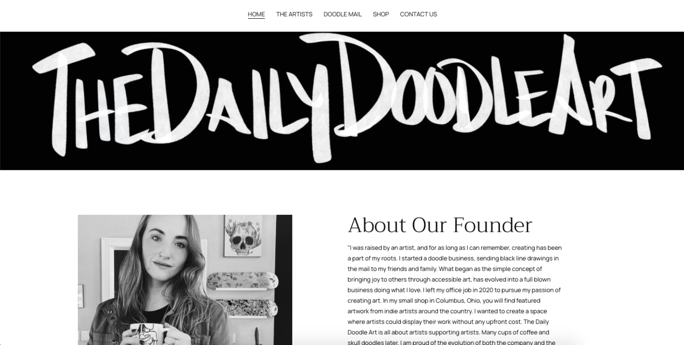 Daily Doodle Art Homepage