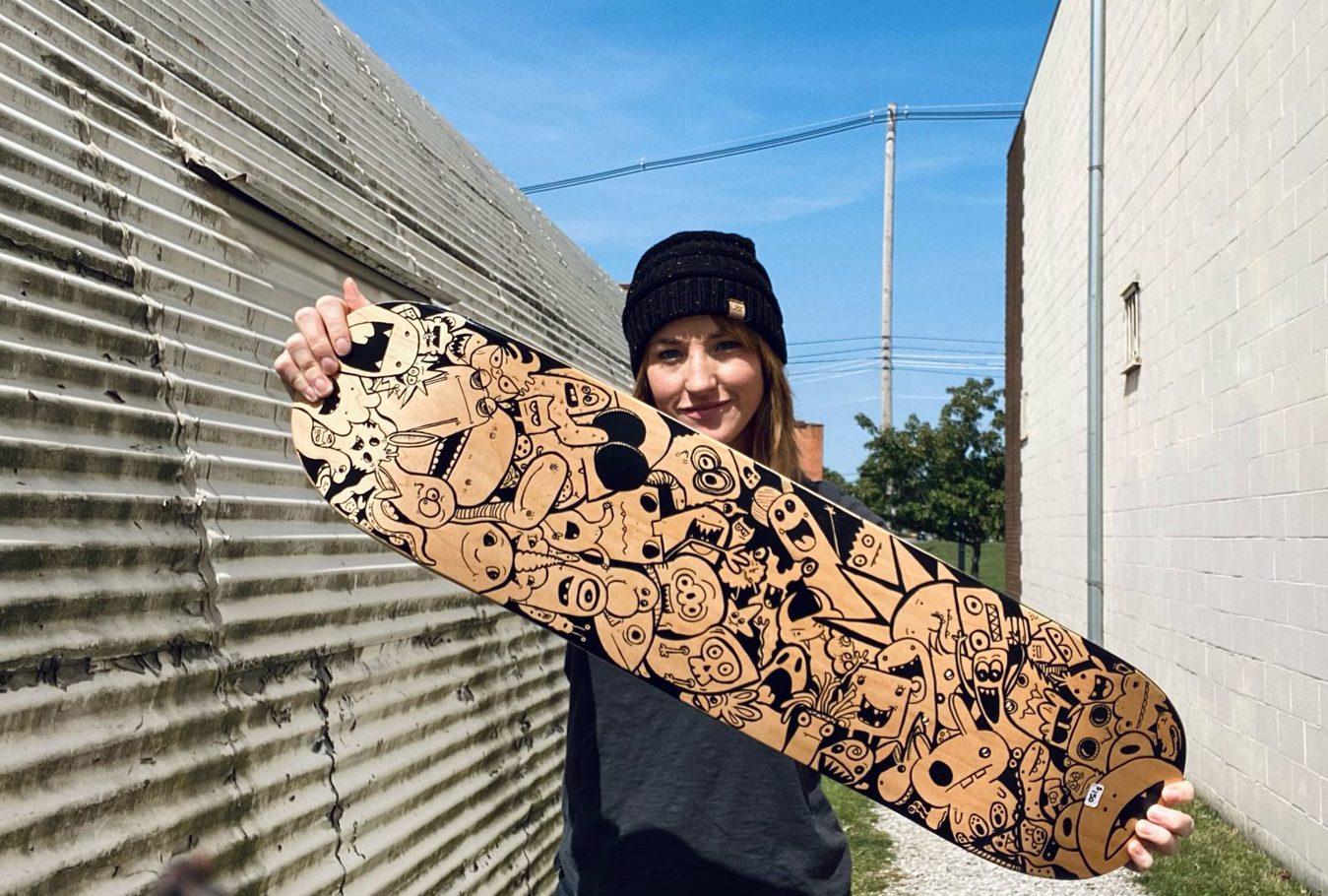 Chelsea Heimlich Sketched Skate Deck