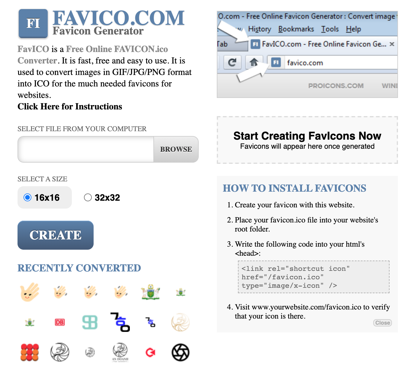 Membuat favicon dengan Favico