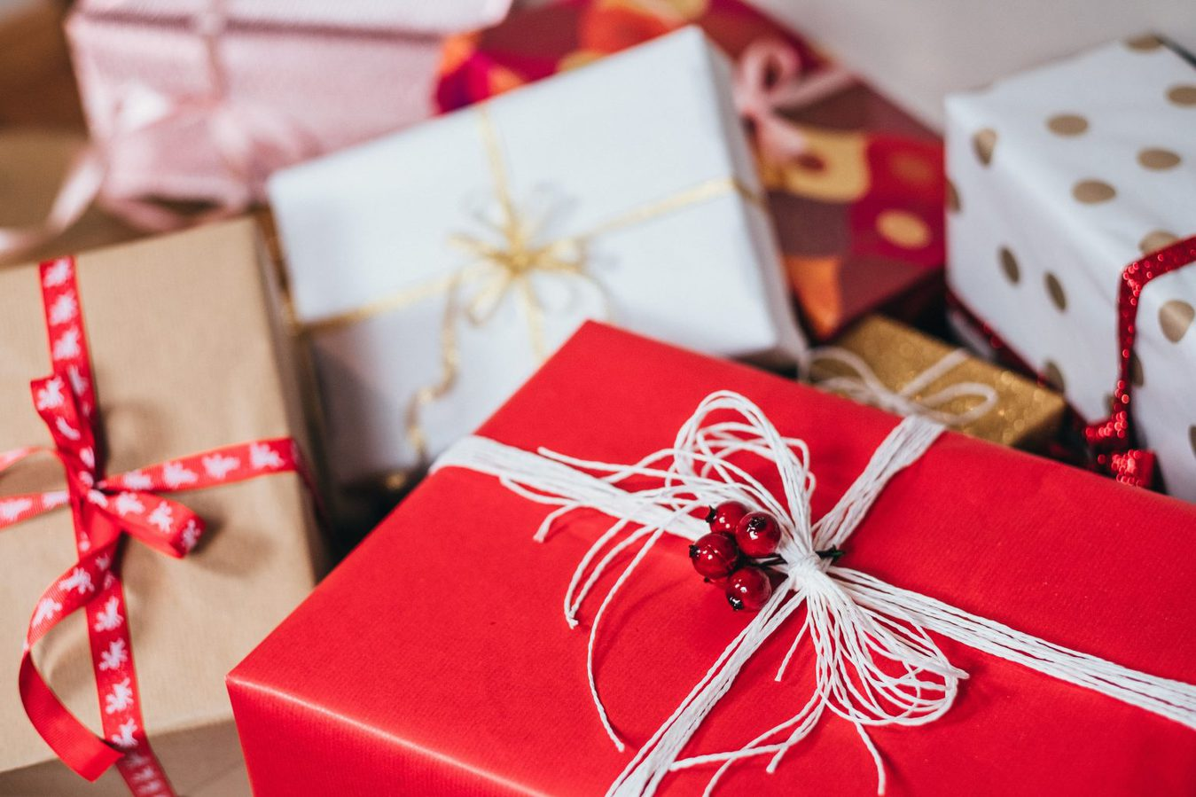 Gift-wrapped presents
