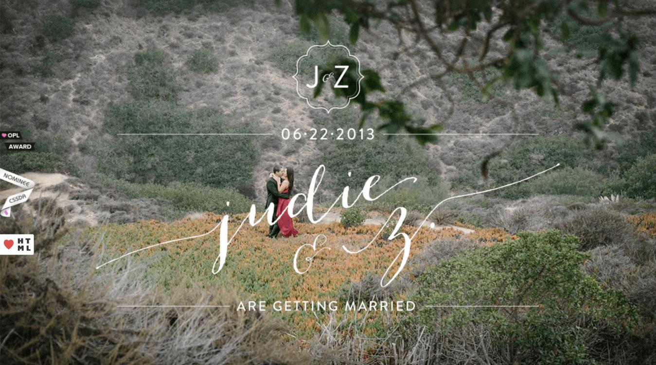 Sito del matrimonio di Judie e Z