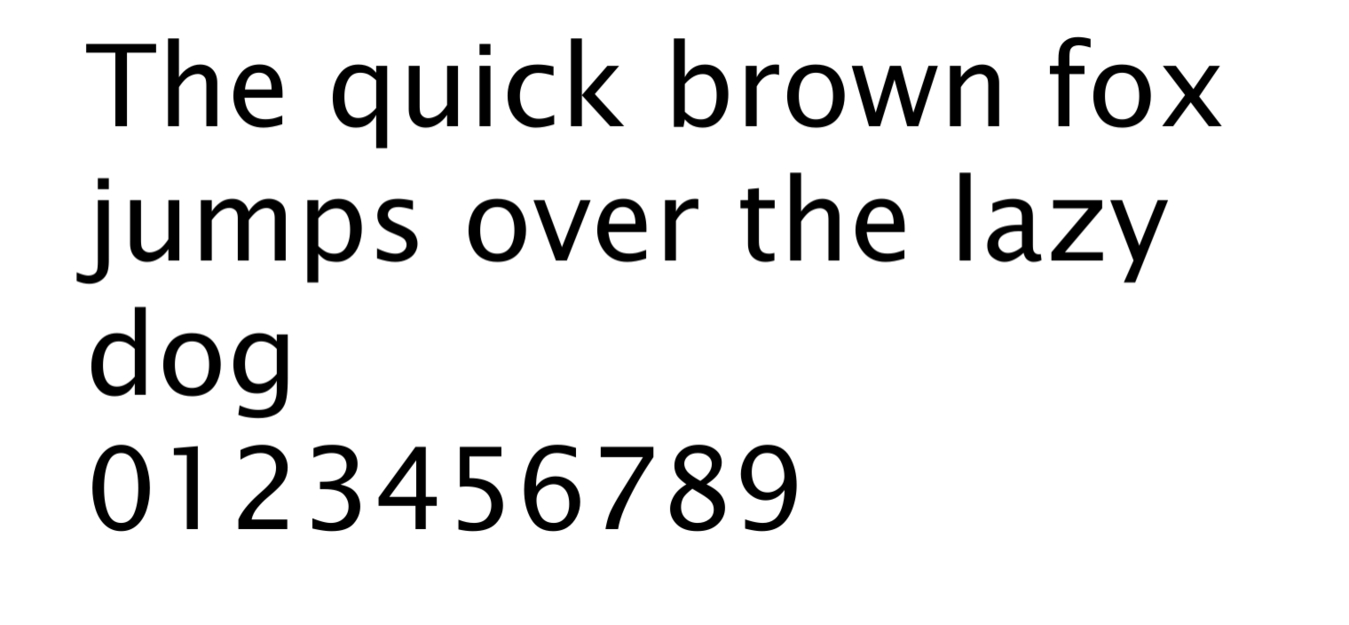An example of the font Lucida