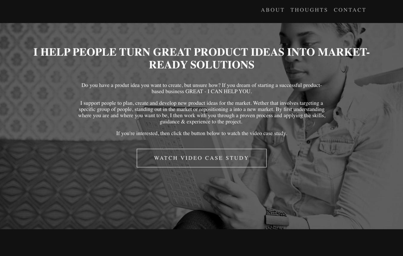 ví dụ về website portfolio MDZ Design