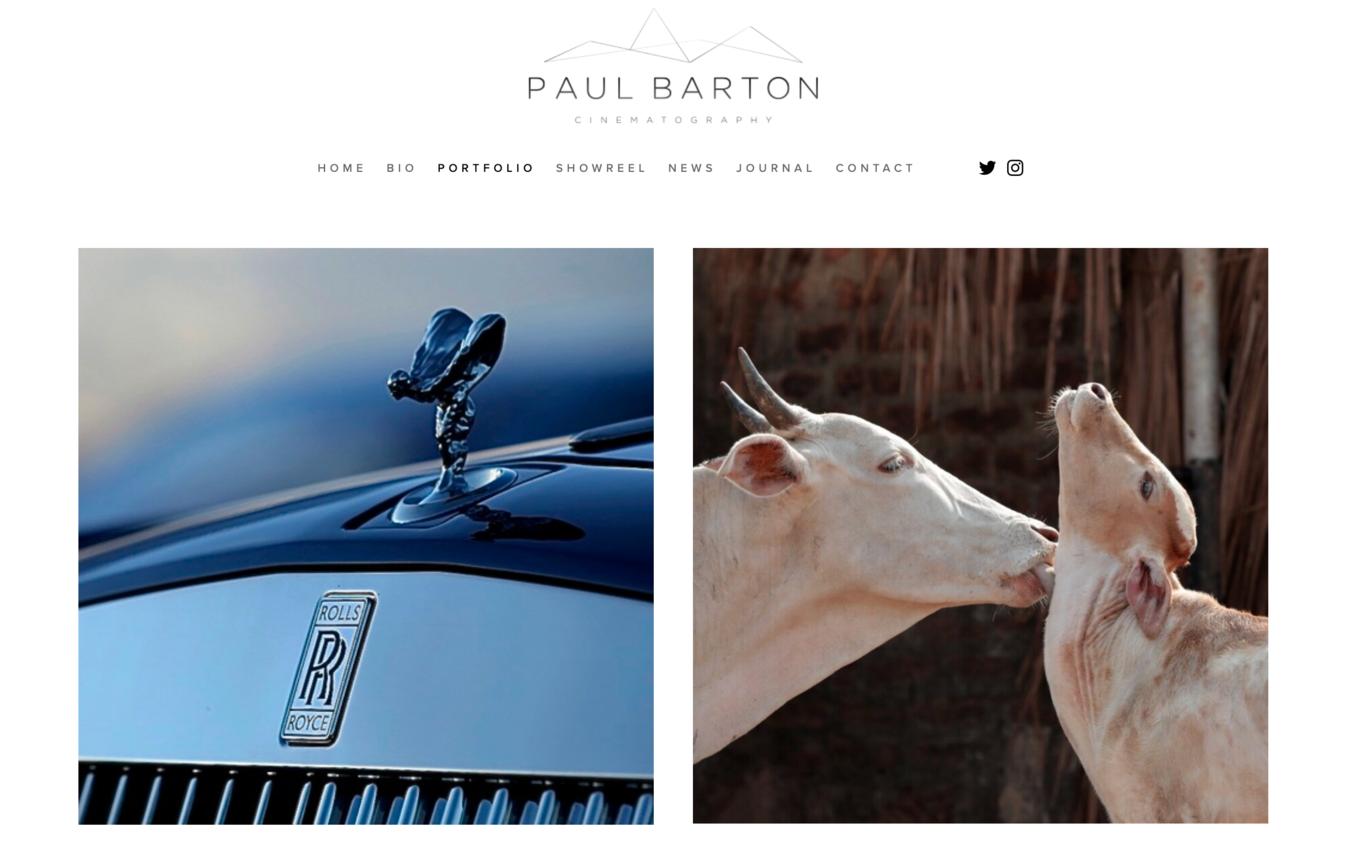 Sito portfolio Paul Barton