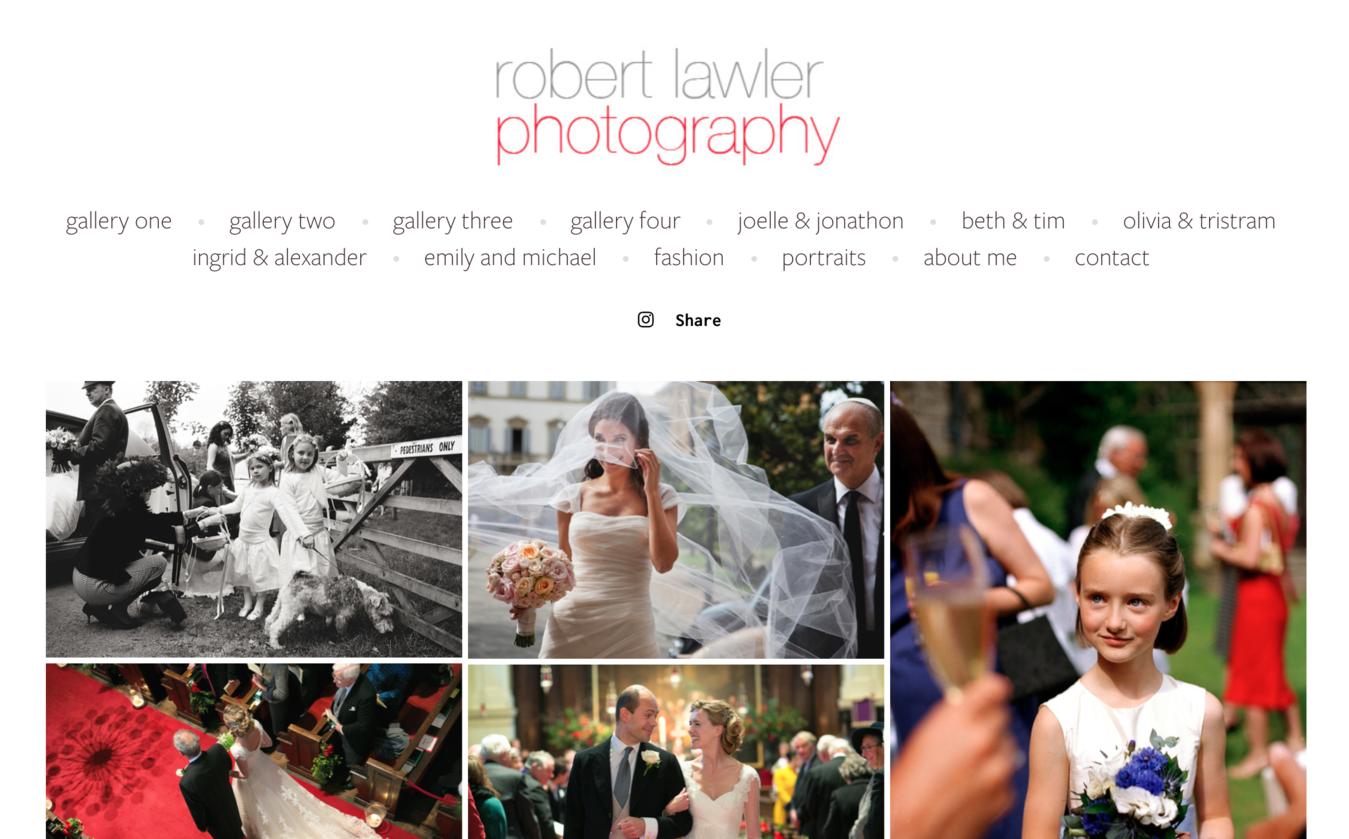 Sito portfolio fotografico Rober Lawler
