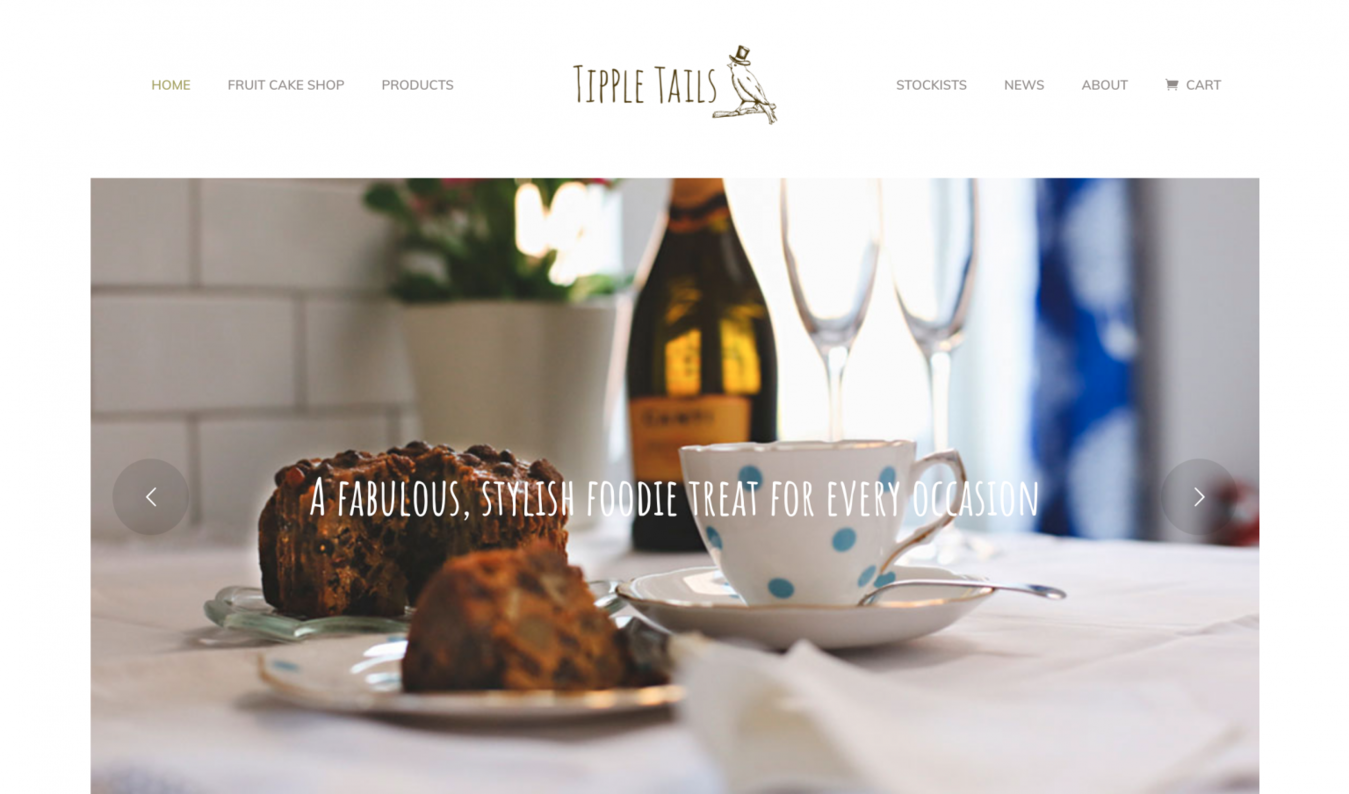 Tipple Tails fruit cake home page