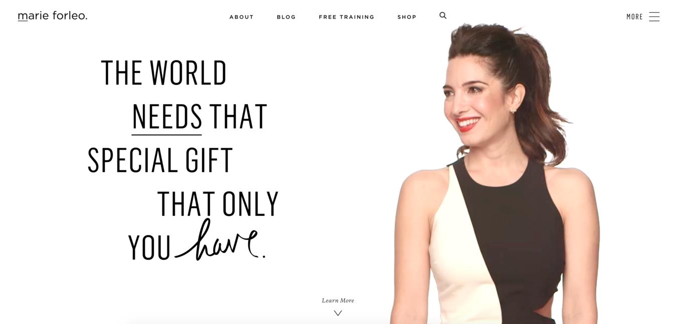 Website pribadi Marie Forleo