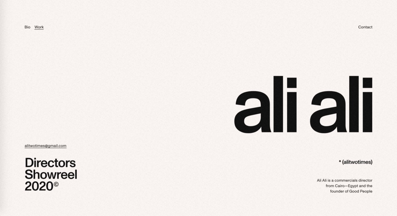 Ali Ali Simple Website Design