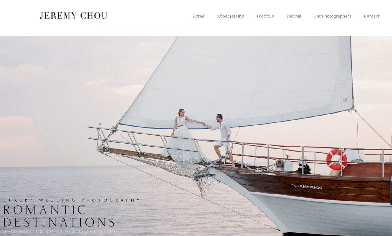 Jeremy Chou fotografie website