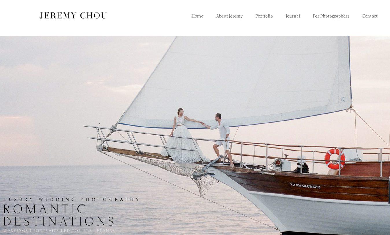mejores webs para fotógrafos: Jeremy Chou