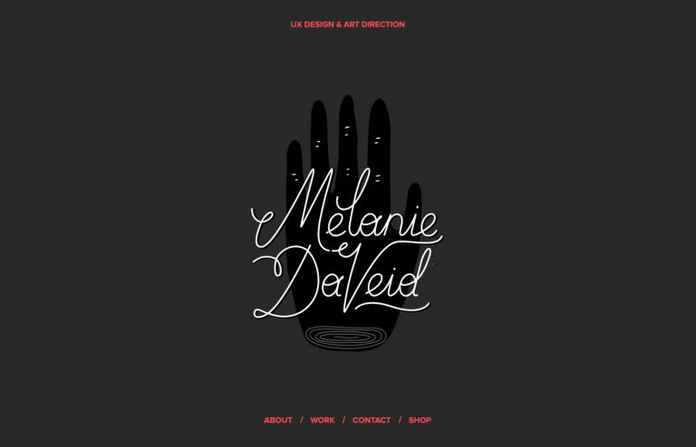 Site de portfólio de Melanie DaVeid