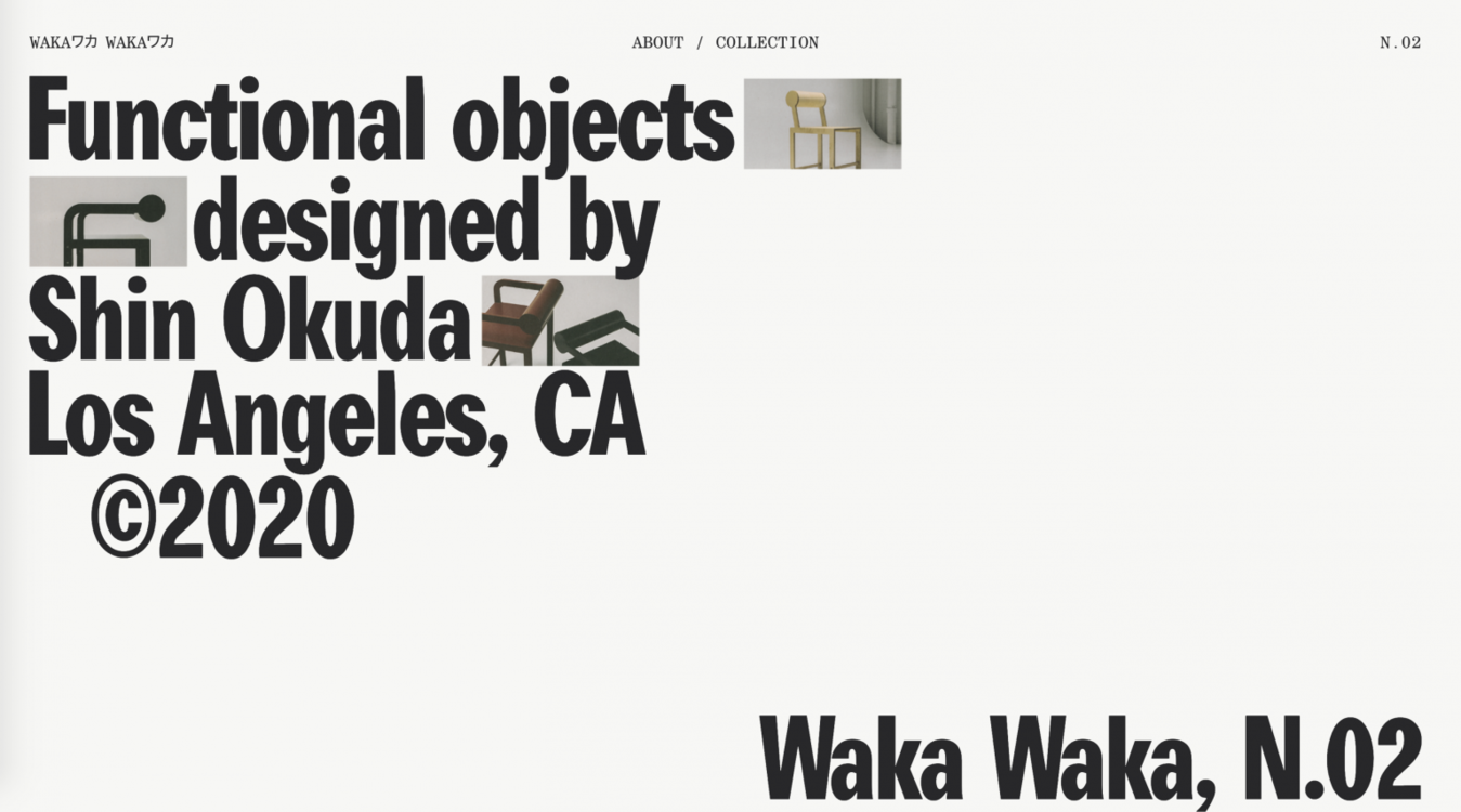 Waka Waka Simple Website Design Minimalism