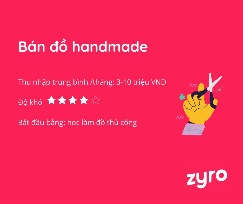 kinh doanh online tại nhà đồ handmade