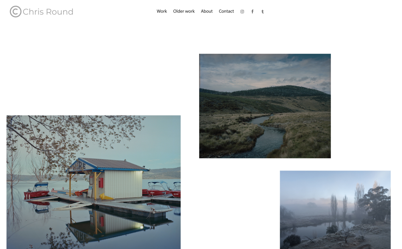 Chris Round portfolio website voorbeeld