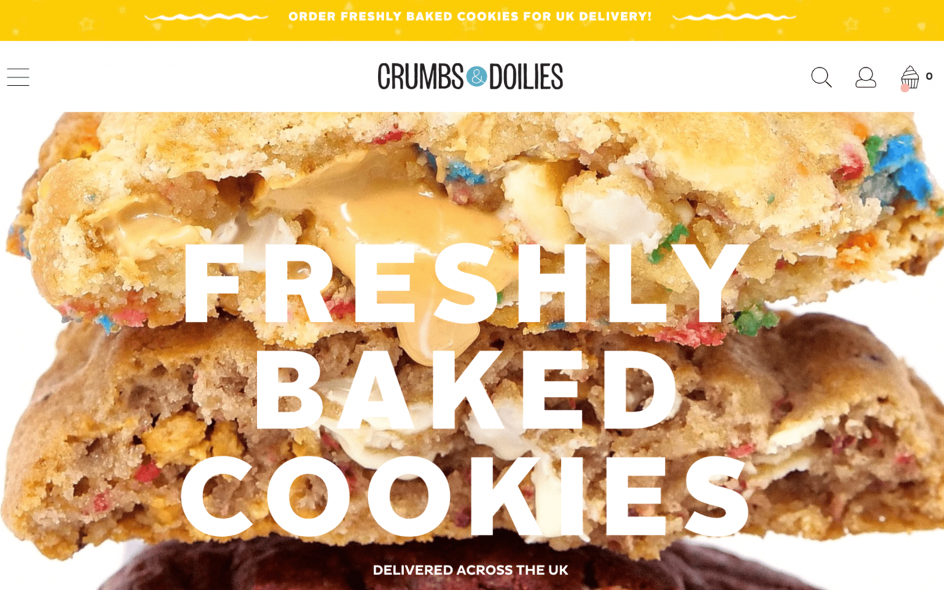 Crumbs and Doilies landing page