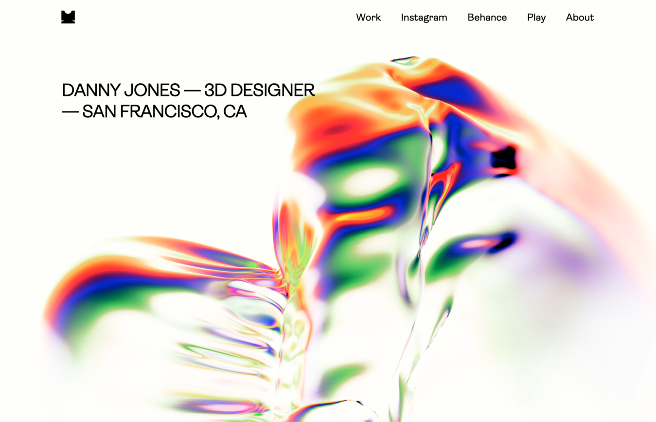 Danny Jones portfolio website voorbeeld