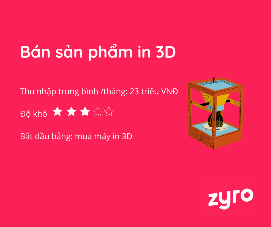 bán sản phẩm in 3D