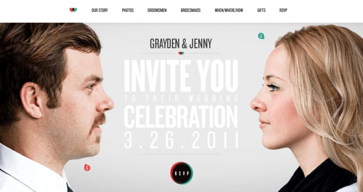 Website pernikahan Jenny & Grayden