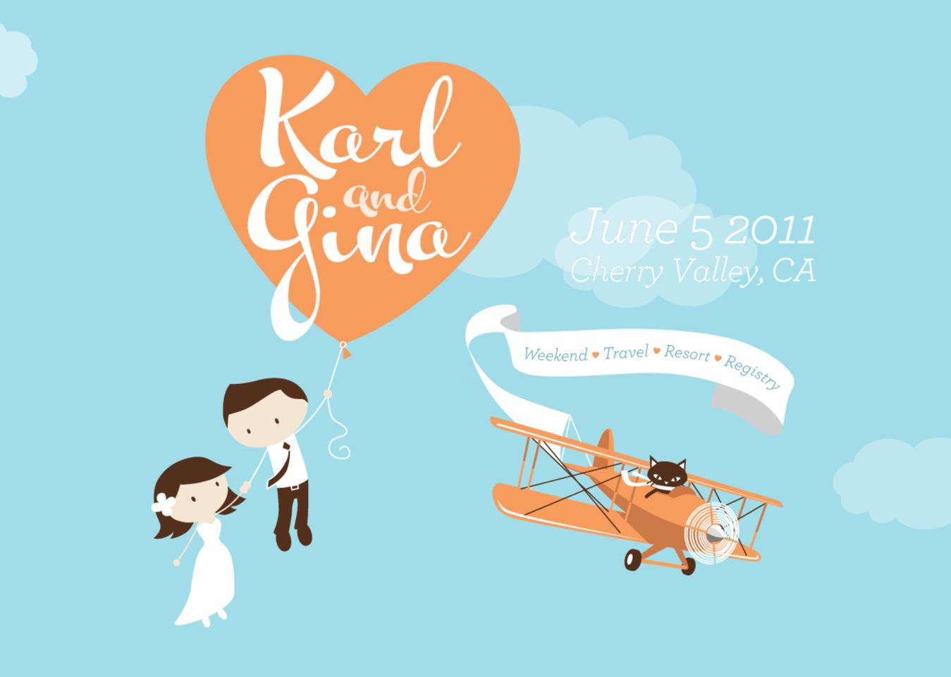 Trouw website van Karl en Gina