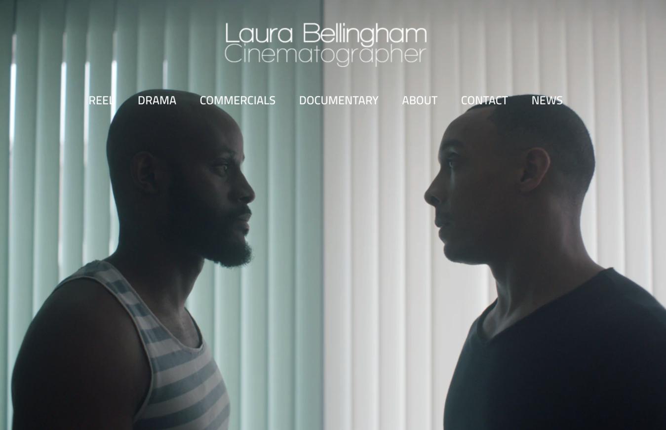 Laura Bellingham portfolio website voorbeeld