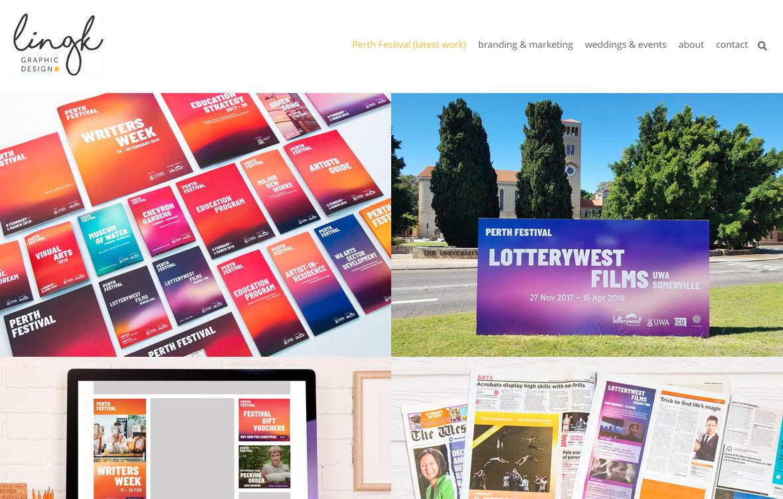 Ling K portfolio website