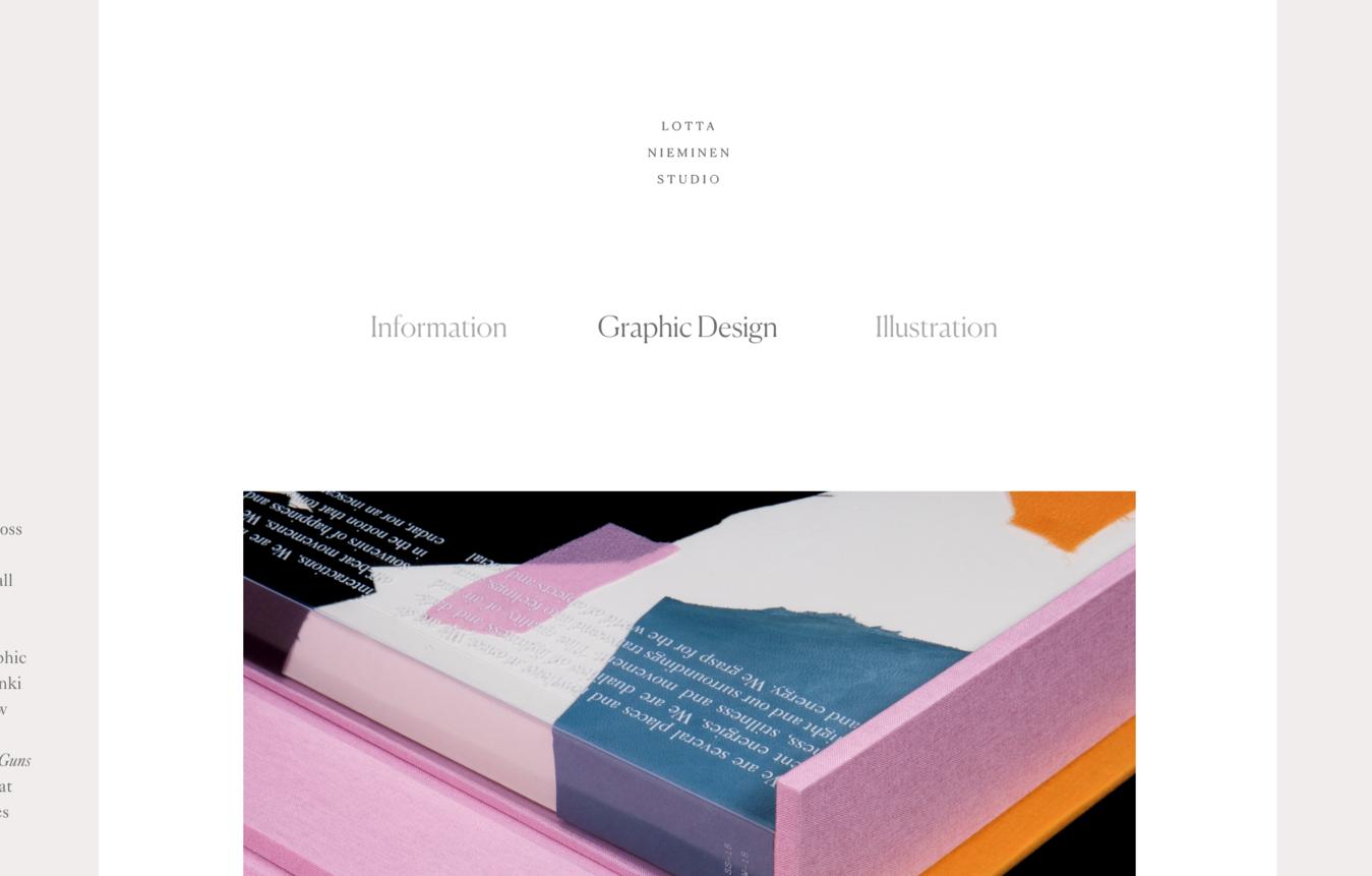 Lotta Nieminen portfolio website