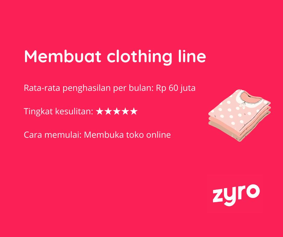 Menjual baju dengan brand sendiri